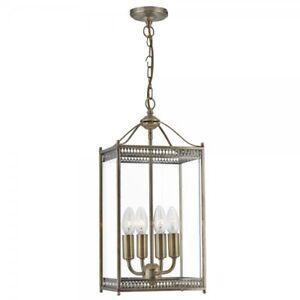 Projecteur-1554AB-Lanterne-4-x-60-W-E14-Lumiere-Plafond-Pendentif-Laiton-Antique