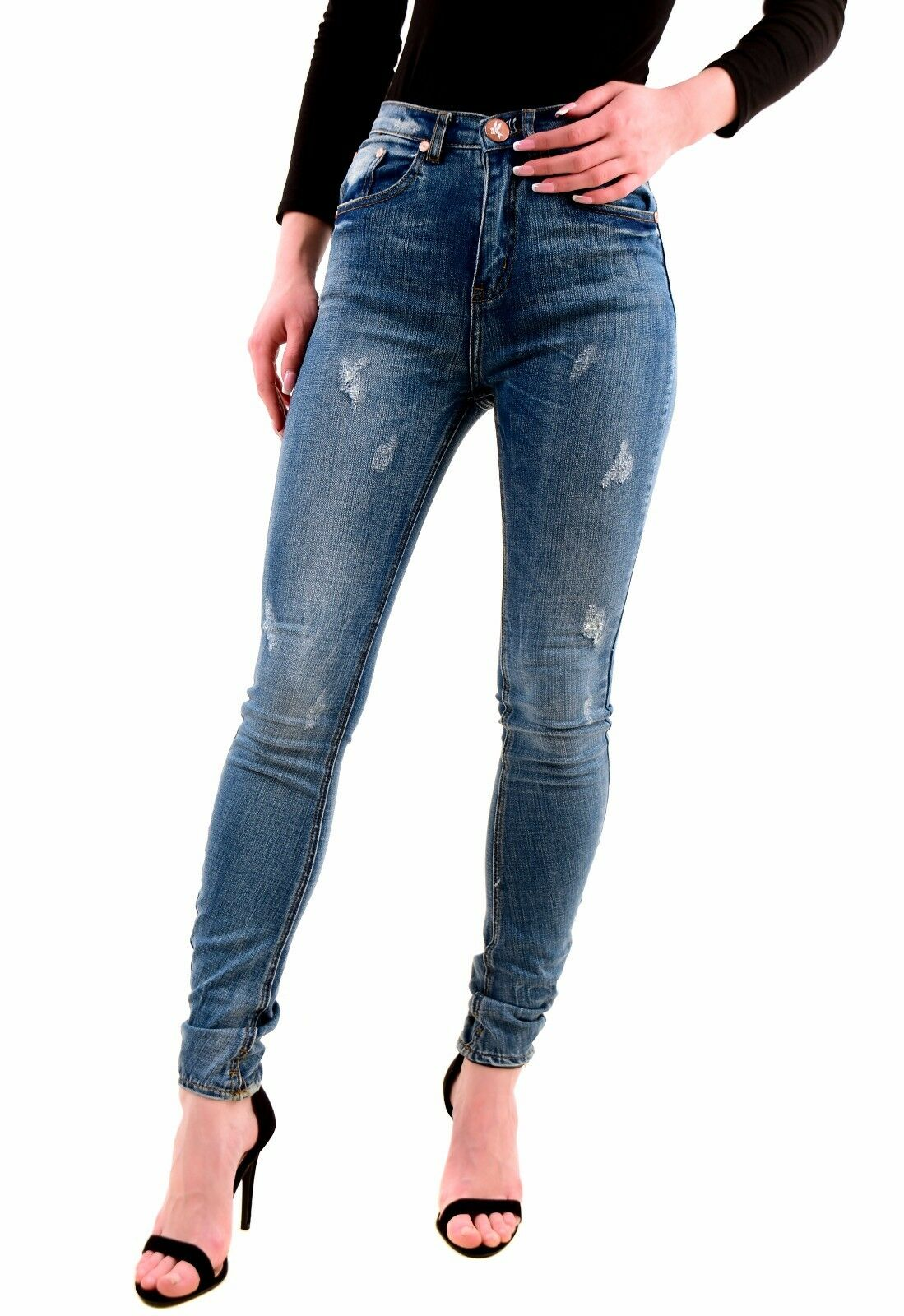 One Teaspoon Women's Authentic Pure bluee Scallywags Jeans Size 26 RRP  BCF75