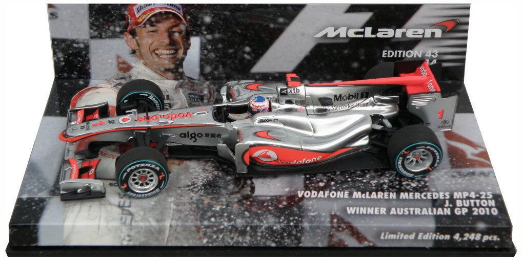 Minichamps McLaren MP4-25 Winner Australian GP 2010 - Jenson Button 1 43 Scale