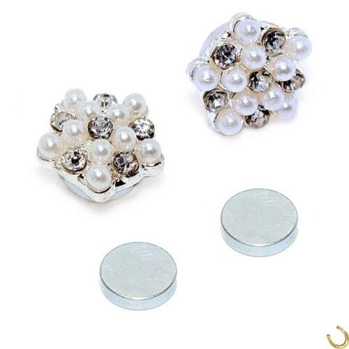 Magnet flores perlas cristal pendientes aretes piercing imán joyas x-18