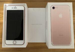 Apple-iPhone-7-32-Go-Rose-or-Debloque-W-tous-les-accessoires-tres-bon-etat