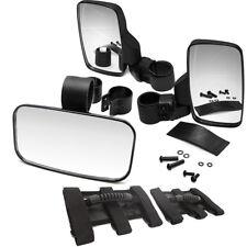 Fit Honda Pioneer 1000 500 700 Roll Bar Cage Rear&Side View Mirror w/Handle Grab