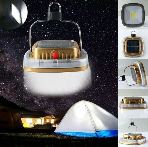 Portable 3 W 300 lm COB DEL Solaire rechargeable USB Camping éclairage Lampe Avec Crochet