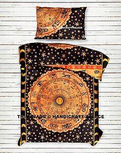 Astrology-Indian-Mandala-Bohemian-Reversible-Duvet-Set-Doona-Quilt-Cover-Blanket