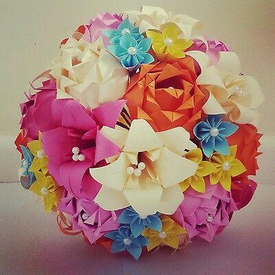 Carta Origami Fiori Bouquet Di Nozze Rose Stargazer Lily Daisy Fiori Di Carta-mostra Il Titolo Originale Per Farti Sentire A Tuo Agio Ed Energico