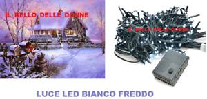 LUCI-LED-NATALE-NATALIZIE-ADDOBBI-DECORAZIONE-ALBERO-DI-NATALE-100-LED-BIANCO