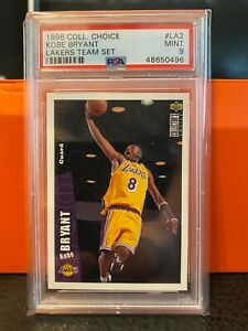 1996-97-UD-Upper-Deck-Collector-039-s-Choice-Kobe-Bryant-RC-ROOKIE-Card-PSA-9-MINT