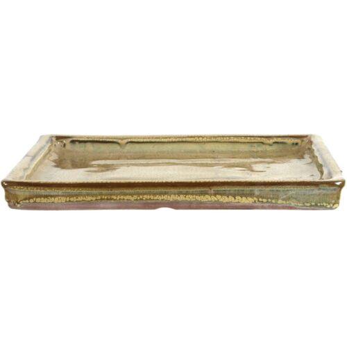 Drip tray for bonsai pots 29.5x23.5x2.5cm olive rectangular U30ROL