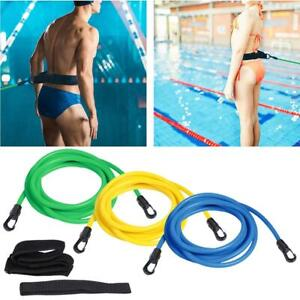 Swim-Trainer-Belt-Swimming-Resistance-Tether-Leash-Pool-Training-Aid-Harness-AU