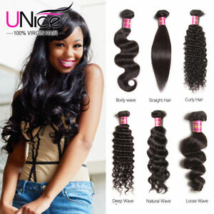 UNice-8A-Indian-Straight-Hair-2-Bundles-200g-Human-Hair-Extensions-Weaves-Weft