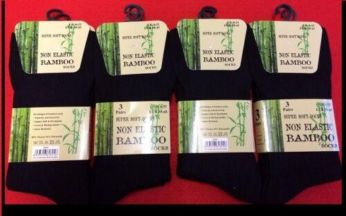 12 Paia Di Uomo Bamboo Larga Calzini Alti,Non elastico Antibatterici calzini,