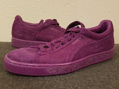 PUMA SUEDE CLASSIC Purple Sparkle SZ 6 Womens Sneakers Shoes