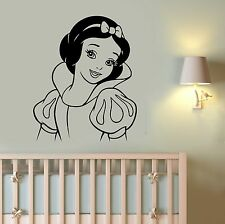 Snow White Wall Decal Disney Princess Vinyl Sticker Cartoon Art Nursery Decor s2