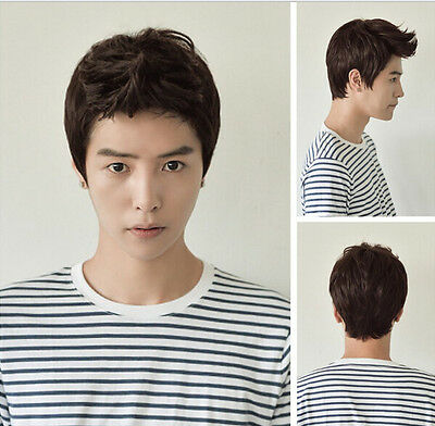 New Best Aircraft Wig Handsome Student Korean Men and Boys Short Hair Wig+Cap