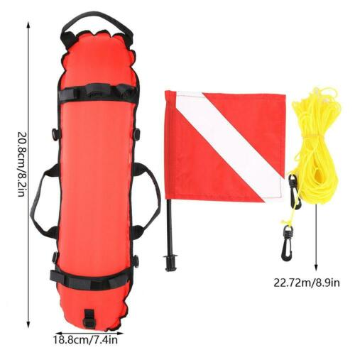 Schnorcheln Tauchen Inflation Torpedo Boje Signal Float Ball /& Flagge
