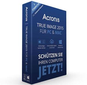 Acronis True Image 2015 3 PC / MAC Backup & Recovery / Vollversion / Deutsch