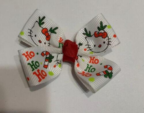 "Hello kitty And Ho Ho Ho Christmas 2"" Hairbow"