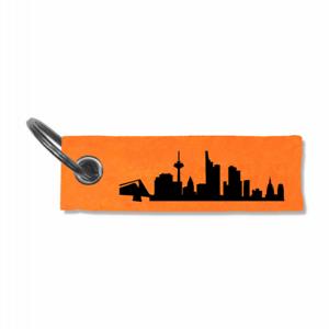 Samunshi Schlüsselanhänger Frankfurt Skyline  5 Farben 10x3cm