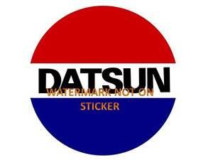 VINTAGE-DATSUN-DECAL-STICKER-LABEL-LARGE-240mm-DIA