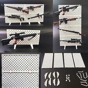 1//6 Scale Modular Weapons Higher Wooden Display  Storage Stand Gun Rack Model