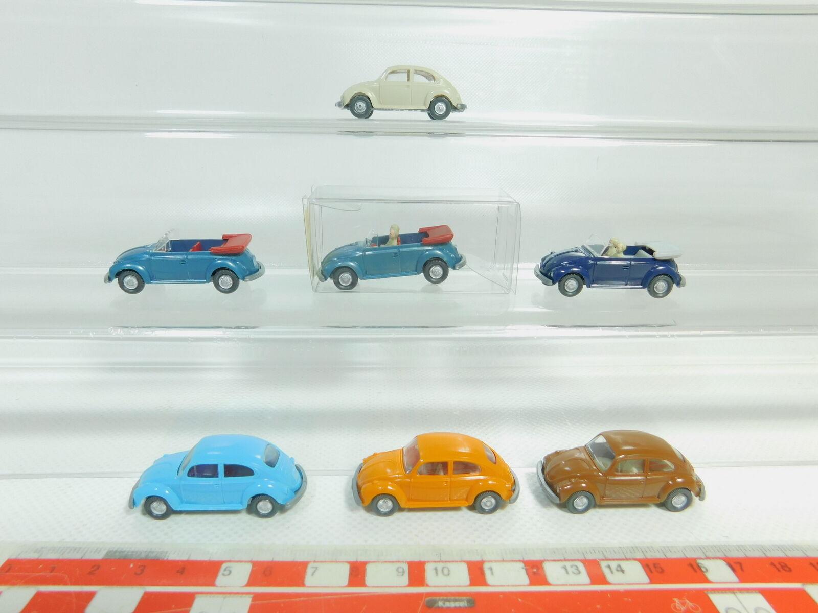 Bo592-0,5   7x wiking h0   87 vw beetle  10 033 cabriolet etc., minze + 1x