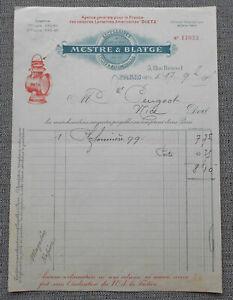 Paris 1905 : Mestre & Blatge - Accessoires Pour Cycles & Automobiles ! Moderne Et EléGant à La Mode