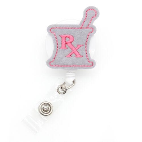 ID Badge Holder Card Reel Felt RX Gallipot Medical Nurse Doctor Brooch 1-15PCS
