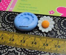 Mini Moule silicone Fleur, pâquerette fimo, porcelaine, plâtre, résine