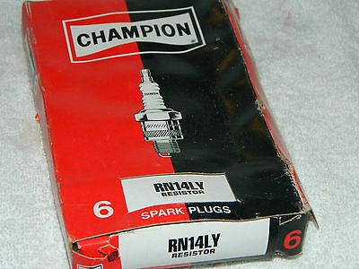 Champion Spark Plug RN14LY Package of 6 Spark Plugs Resistor