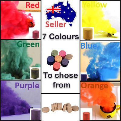 Smokecakesaus Colourful Smoke Cake Smoke Emitter Effect Bomb For Photography Ebay