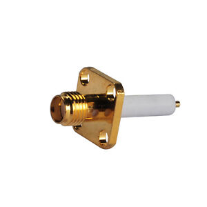 RF-Connector-SMA-female-jack-panel-mount-4-hole-long-extended-dielectric
