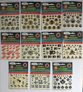 NHL-Okee-Dokee-Tattoo-Stickers-Pick-Your-Team