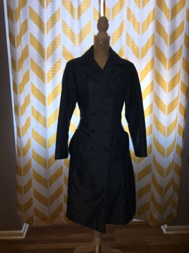 poly nylon Trenchcoat 12p Bromleigh blue Good fill m Vintage Ladies 0PxqdY