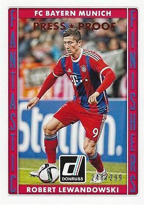 Donruss soccer 2015 fantástico acabadores Chase Card #12 Robert Lewandowski