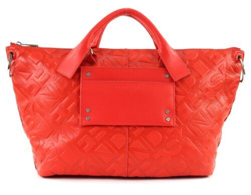 LIEBESKIND BERLIN Embossed Logo SatchelL Handtasche Tasche Liebeskind Red Rot