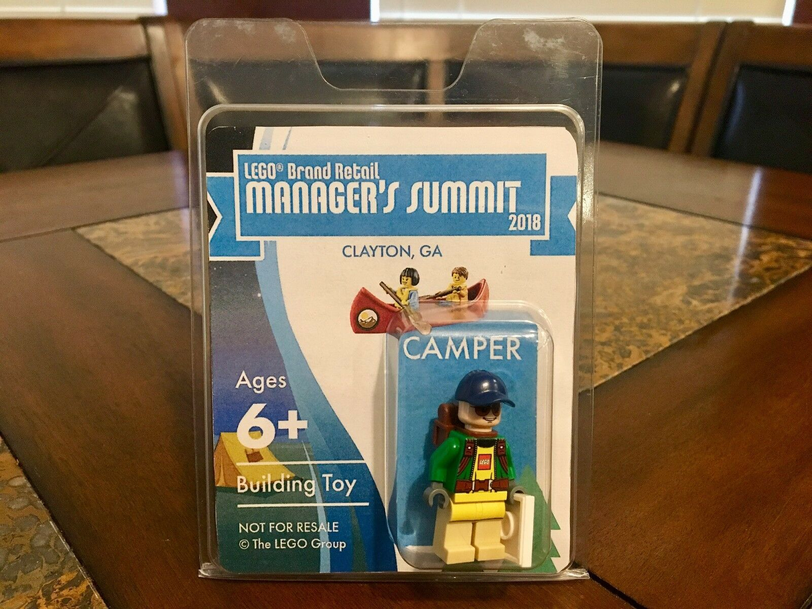 LEGO CAMPER BRAND RETAIL MANAGERS CLAYTON CONFERENCE 2018 RARER MR oro SDCC