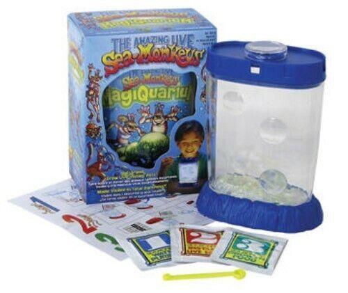 GLOWING Amazing Live Sea Monkeys Magiquarium Grow Monkey Tank Habitat Toys