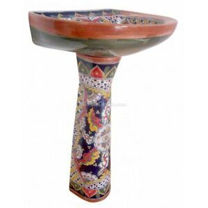 Fine Details About Mexican Talavera Pedestal Sink Handcrafted Ceramic Patricio Machost Co Dining Chair Design Ideas Machostcouk