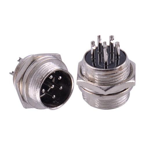 4pcs 6 Pin Stecker Mikrofon Panel Chassis Connector für Amateurfunk