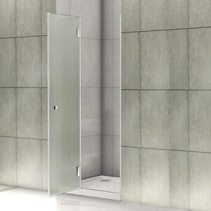 Duschabtrennung glas satiniert  90x190cm Duschtür Nischentür Echtglas Dusche Duschabtrennung ...