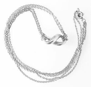 ae6fd8730 Image is loading TIFFANY-amp-CO-STERLING-SILVER-INFINITY-NECKLACE-15-