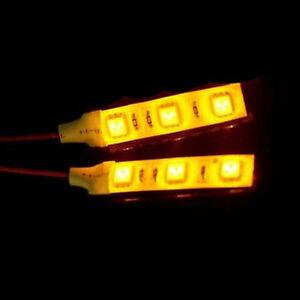 2x 5cm amber 3 smd led light strip 12v car courtesy stereo glove box image is loading 2x 5cm amber 3 smd led light strip aloadofball Images