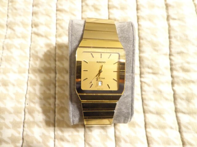 Genuine Men S Rado Diastar Watch 152 0467 3 Scratch Proof Gold Ceramic For Sale Online