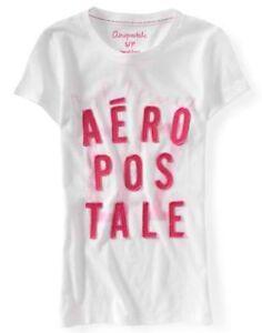 White Aeropostale Womens Aero Animal Print Dolman Graphic Tee Shirt M L XL XXL