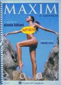 Nuda Calendario.Details About Calendar Sexy Alessia Fabiani Nude Calendario Maxim 03