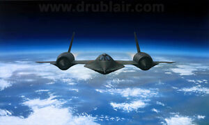 """The Last Hot Flight"" Dru Blair Giclee Print - SR-71 Blackbird Final Flight 1990"