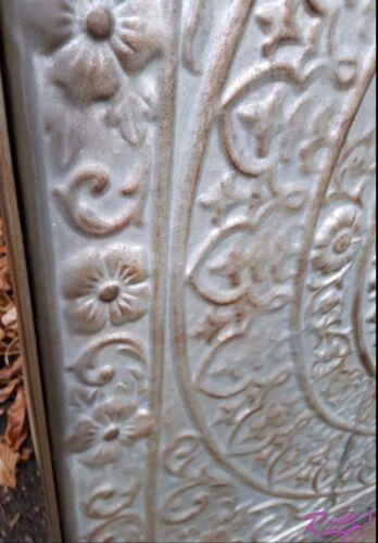 Large Old World Medallion Victorian Ceiling Tile Metal Wall Panel Plaque Artwork