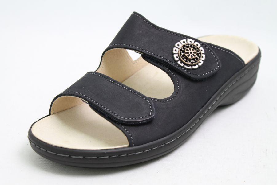Longo sandalias sandalias sandalias de cuero azul velcro cambio plantilla  garantía de crédito