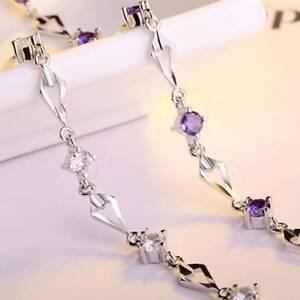 Silber-Romantisches-Bettelarmband-Kristall-Zirkon-Kettenarmband-fuer-Frauen