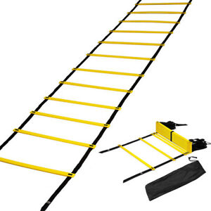 6//12 Rung Agility Speed Training Ladder Equipment for Athletic Footwork Exercise